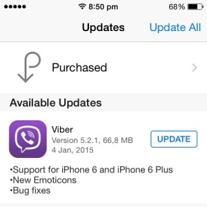 How to update Viber on iPhone