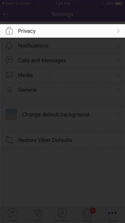 Uninstalling Viber from iPhone